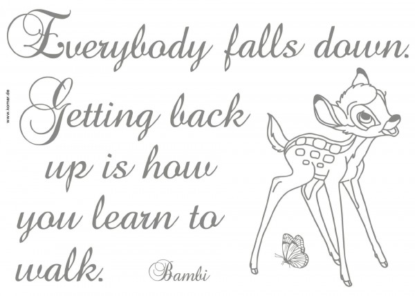 "Deco-Sticker ""Getting back up"" Bambi Komar 14004h"