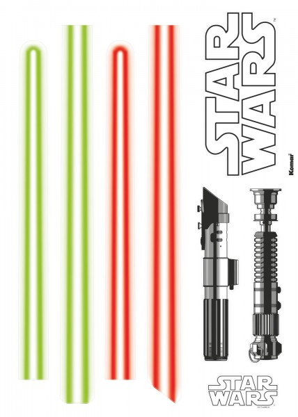 "Deco-Sticker ""Star Wars Lightsaber"" Star Wars Komar 14020h"