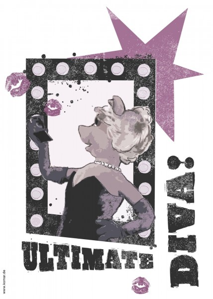 "Deco-Sticker ""Ultimate Diva"" Muppets Komar 14003h"