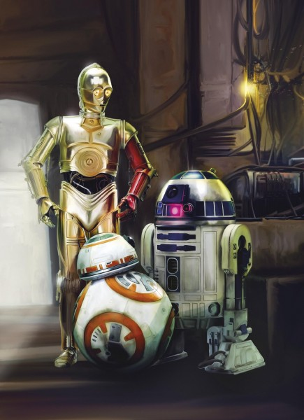 "Fototapete ""STAR WARS Three Droids"" Star Wars Komar 4-447"
