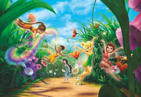 "Fototapete ""Fairies Meadow"" Tinker Bell Komar 8-466"