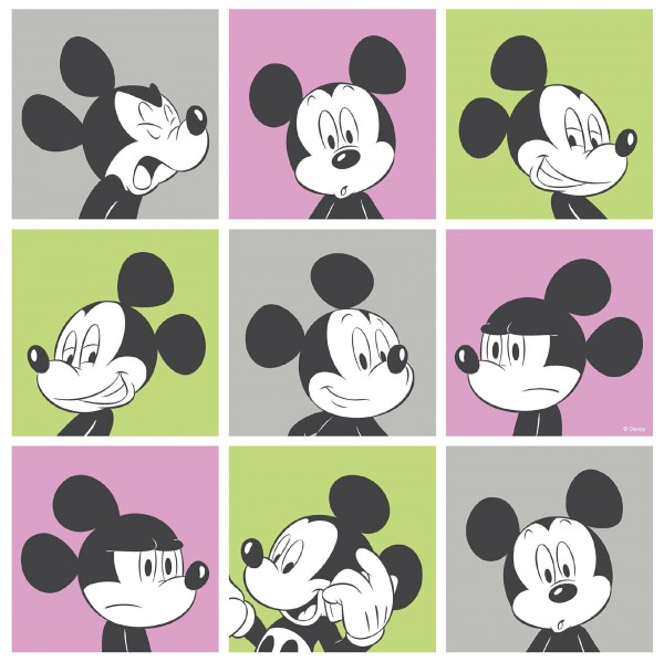 Kindertapete Mickey Mouse bunt Raschtextil Comics & more 3013-3