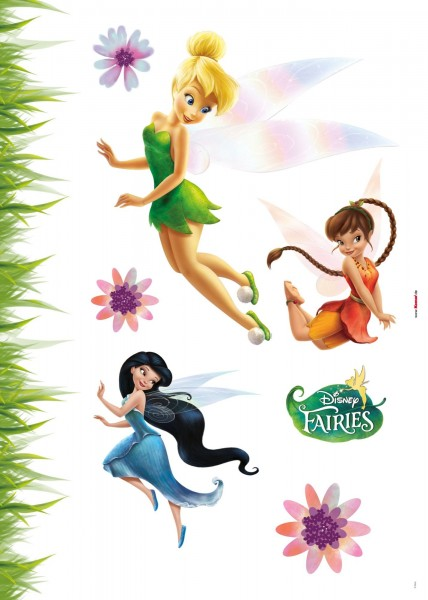 "Deco-Sticker ""Fairies"" Tinker Bell Komar 14011h"