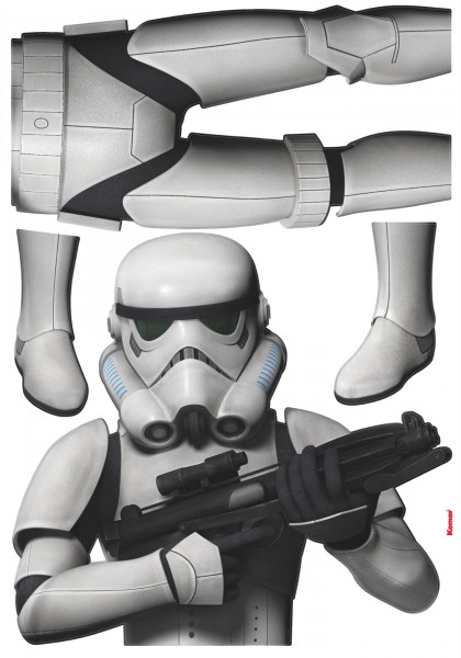 "Deco-Sticker ""Star Wars Stormtrooper"" Star Wars Komar 14722h"