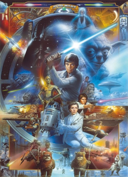 "Fototapete ""Star Wars Luke Skywalker Collage"" Star Wars Komar 4-441"