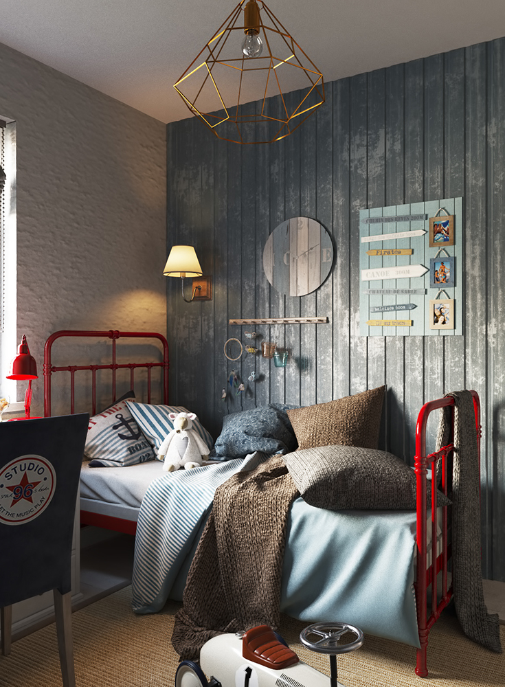 Inspiration_Kinderzimmergestaltung_Kindertapete_Jungen_Kinderbett_room-for-kids