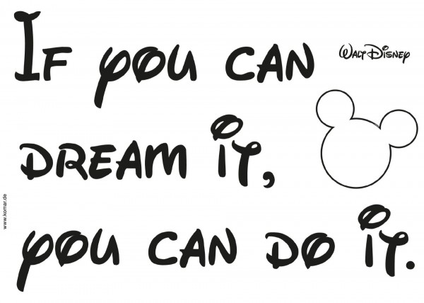 "Deco-Sticker ""! You can do it"" Mickey Mouse Komar 14002h"