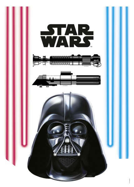 "Deco-Sticker ""Darth Vader"" Star Wars Komar 14030h"