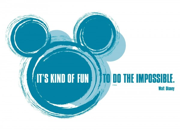 "Deco-Sticker ""It's kind of fun"" Disney Komar 14012h"